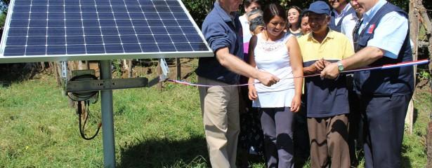 A través de la instalación de paneles fotovoltaicos se busca asegurar e incrementar el uso del agua para riego, principalmente, en períodos de sequía