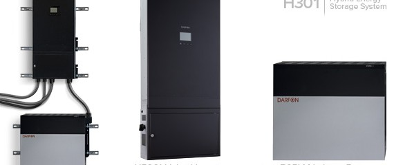Darfon Application Note – Why Darfon H Series Hybrid Storage Systems - H5000 Hybrid Inverter, H5001 Hybrid ESS Inverter, H301 BESS, H302 BESS? -Tier 1 Production -Quality Check and Assurance -Pre-Wired and Configured -Off-grid and Grid-Tied -Optional BESS Package -Most competitive option in the market for BESS! The H Series Hybrid Storage Systems The H Series Hybrid Storage Systems integrate hybrid inverter, control panel, display panel, communication board and batteries into sturdy industrial racking enclosures. The H Series feature true hybrid designs where power sharing is possible with various power sources for a wide variety of applications. Conventional backup power supplies, like uninterrupted power supply, cannot handle solar power directly, and conventional solar inverters cannot directly store energy into batteries. Darfon's advanced hybrid storage systems solve both problems in one integrated package with direct solar DC input in conjunction with AC charging capabilities.  No Costly Electric Bills  Freedom from Power Outages  Aid & Development  Commercial & Water agencies  Defense & Security  Disaster Response & Emergency Preparedness  Hospitality & Tourism SIX PROGRAMS TO SUIT YOUR NEEDS 1 – BACKUP (DEFAULT) 2 – RESIDENTIAL 3 – BACKUP NO FEED-IN 4 – RESIDENTIAL NO FEED-IN 5 – TIME-OF-USE (TOU) 6 – TIME-OF-USE (TOU) WITHFEED-IN ALL APPLICATIONS • Feed-In Tariff • Net-Metering • Time-Of-Use • Backup • Off-Grid Living • Rural • Commercial • Residential • Agricultural About H5001: The H5001 is also one of the most cost competitive ESS systems in the market for residential and light commercial applications and is available for utilization in your market today! The H5001 comes with the H5000 hybrid inverter and includes quick disconnect terminals, AC breakers, PV disconnect and battery connectors, making the system easy to install. If you have a limited budget, a light load to support and don't have the floor space, then this solution is for you. When using these in an existing PV solar array, the PV string inverter brand must be known before order is placed in order for Darfon to check compatibility. H5000 Hybrid Inverter Features: Up to 6.5kW of input power with built-in MPPT solar charger Up to three H5000 can be integrated together for a large residential/light scale commercial system Compatible with Lithium or lead-acid based batteries Six (6) preset modes: backup, backup w/o grid feed-in, residential, residential w/o grid feed-in, TOU, and TOU w/battery feed-in Transformerless inverter design with true sine-wave AC output and auxiliary port for generator support System monitoring and management via the control panel Five (5) year standard warranty About H301, H302: The Darfon H300 hybrid energy storage system is a wall-mountable pre-configured solution that consists of a H5000 hybrid inverter, distribution box, and 5kWh Lithium battery (LNMC). The is a solution for those with a limited budget, a light load to support or without much floor space. The distribution box is attached and prewired to the H5000, so there are only two products to mount. The distribution box includes quick disconnect terminals for AC, DC, and generator, AC breakers, PV disconnect, and battery connectors, making the system easy to install. If you have a limited budget, a light load to support and don't have the floor space, then the H300 series is the solution for you. The H300 series of hybrid storage systems are wall-mountable pre-configured solutions consisting of a H5001 hybrid inverter and 5kWh Lithium batteries (LNMC). In this series, the H301 has a storage capacity of 5kWh and the H302 has 10kWh. And if the need arises, the H301 can easily be upgraded into the H302. H301, H302 Features: Available with one or two 5kWh Lithium batteries that is pre-configured to work out of the box Built-in distribution box for fast installation Designed for limited budgets and houses with less than 2kW load to support Six (6) preset modes including backup, residential and time-of-use Transformerless design, true sine-wave AC output, and auxiliary port for generator support System monitoring and management via the control panel Wall-mounted design for sites with limited floor space Five (5) year standard warranty H301 Contents One (1) H5001 Hybrid Inverter One (1) Mounting Backplate One (1) B05LM LMNC Lithium Battery One (1) Power Cable One (1) Communication Cable H302 Contents One (1) H5001 Hybrid Inverter One (1) Mounting Backplate Two (2) B05LM LMNC Lithium Battery Three (3) Power Cables Three (3) Communication Cables One (1) Master Box EIA02 BATTERY SPECIFICATIONS MODEL EIA02 ELECTRICAL (DC) Cell Type Lithium Ion Cell Configuration 14S18P Nominal Voltage 51.1 V (3.65 V/cell) at 25 ° C Maximum Charge Voltage 58.8 V (4.2 V/cell) End of Discharge Voltage 45.5 V (3.25 V/cell) Nominal Capacity 95.4 Ah / 4.88 kWh Maximum Charge Current 44 A Continuous Discharging Power 2200 W maximum Peak Discharging Power 3000 W for 1 sec Depth of Discharge 80% Protection Function OCP/OVP/SCP/OTP MECHANICAL Operating Temperature Range -10 to 45 ° C Storage Temperature Range -40 to 60 ° C Communication Interface RS485 Gross Weight 46.5 kg Dimensions L x W x D 710 x 610 x 167 mmIP Rating IP-20 WARRANTY Warranty 5 years or 2500 cycles About Darfon Electronics Corporation: Darfon Electronics Corporation, established in 1997, is a Taiwan-based company with global offices in the United States, the Czech Republic and South Korea. It is one of sixteen independently operated companies in the BenQ Group. Darfon recorded consolidated annual sales revenue of approximately $1 billion USD and employs 16,200 people worldwide. Darfon is the world's leading notebook keyboard and power supply manufacturer. In the past 16 years, the company has acquired more than 1,200 global patents and 10 international design awards. Utilizing its power supply and integrated material expertise to develop and expand its solar division, Darfon entered the solar industry in 2011. Darfon is dedicated to producing high-quality solar products. From its micro inverters to its web-based monitoring system, Darfon believes in creating a solar power solution that is efficient, dependable, and user-friendly. About World Technology Corp.: World Technology is an innovative export management company that handles the exports for several leading US solar equipment manufacturers. We are experts on developing and supporting international markets for photovoltaic equipment. Headquartered in New York, our multi-lingual sales executives support customers in over 45 countries. We are not a distributor, we offer high quality solar products and full design and logistics support at pricing lower than buying direct from the manufacturer.